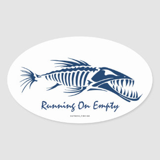 RUNNING ON EMPTY OVAL STICKER