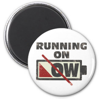 Running On Low 6 Cm Round Magnet
