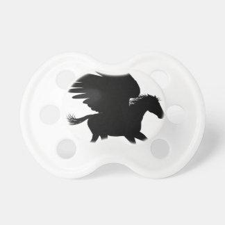 Running Pegasus Silhouette Pacifier