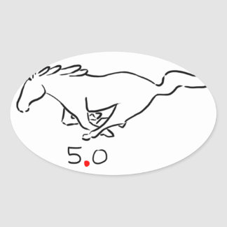 Running pony for the 5.0 track pack oval sticker