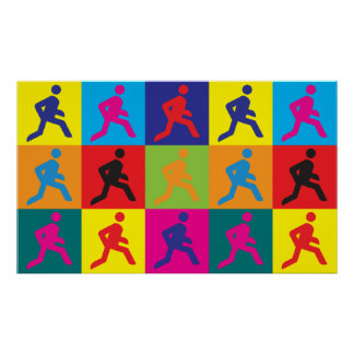 Running Pop Art Poster