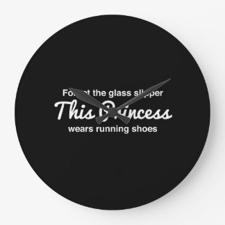 Running Princess Large Clock
