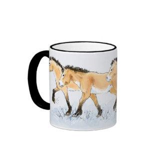 Running Przewalski s Horses Mug