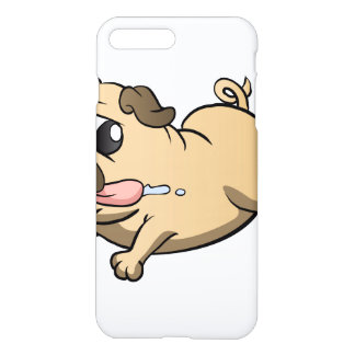 running pug cartoon iPhone 7 plus case