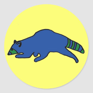 Running Raccoon sticker