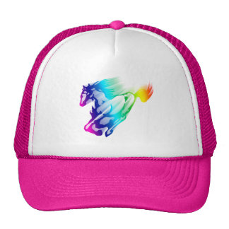 Running Rainbow Horse With Motion Trail Cap