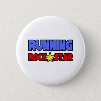 Running Rock Star 6 Cm Round Badge