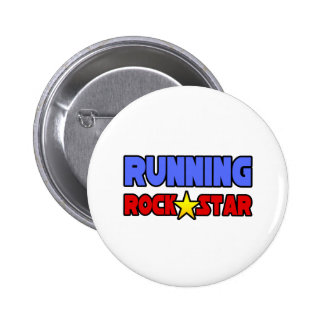 Running Rock Star 6 Cm Round Badge