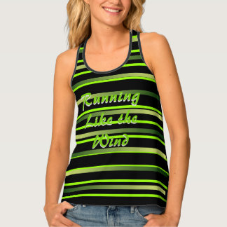 Running Runners Striped Tank Top Sports Sporty