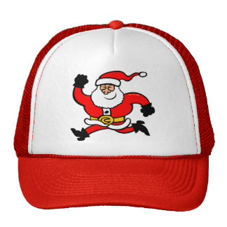 Running Santa Claus Trucker Hat