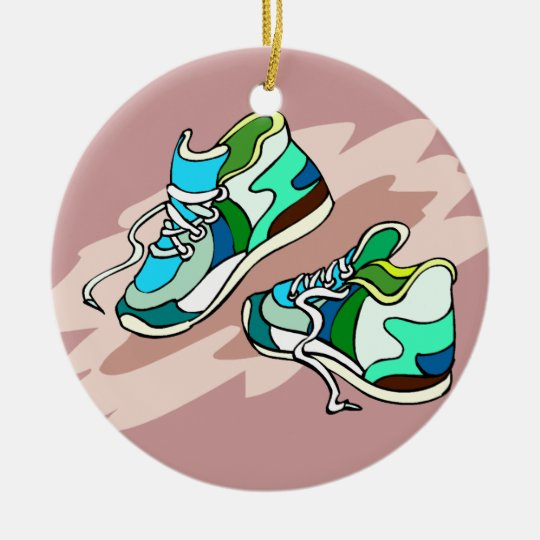 Running Shoes Christmas Ornament