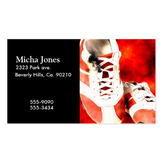 Running Shoes Runner Athlete Grunge Style Business Card Template