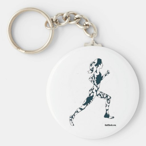 Running Silhouette - Floral Keychains