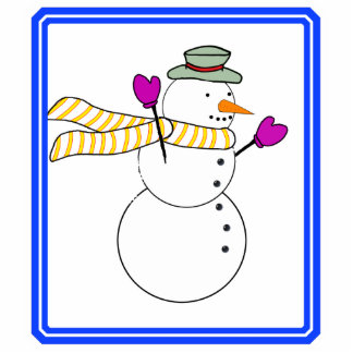 Running Snowman w/Scarf in the Wind Cut Outs