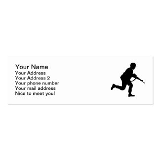 Running Soldier Double-Sided Mini Business Cards (Pack Of 20)