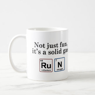 Running Solid Gas Elements Coffee Mugs