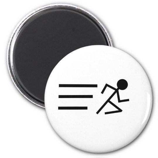 Running Stickman 6 Cm Round Magnet