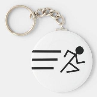 Running Stickman Key Ring