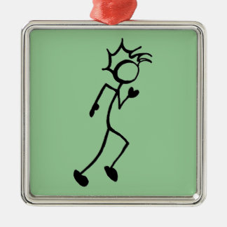 Running Stickman Track and Field Christmas Ornament