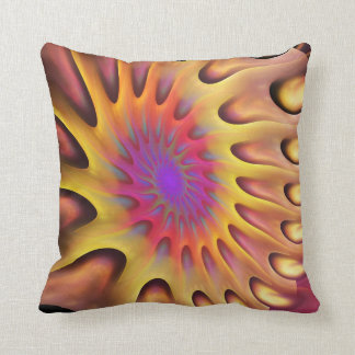 Running Sun, artistic fractal Pillow