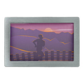 Running sunrise belt buckles