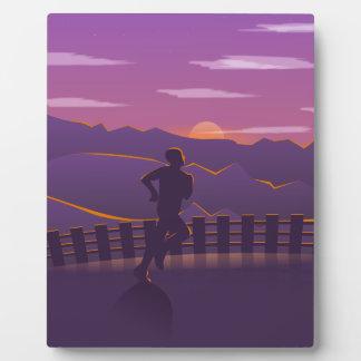 Running sunrise plaque