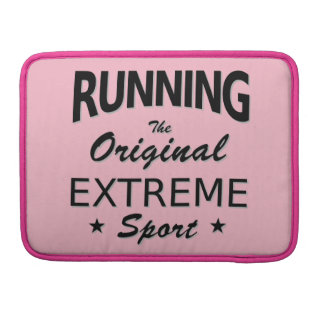 RUNNING, the original extreme sport. (blk) Sleeve For MacBook Pro