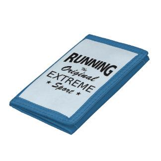 RUNNING, the original extreme sport. (blk) Tri-fold Wallet