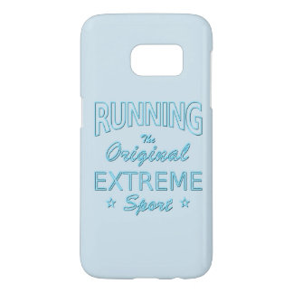 RUNNING, the original extreme sport (blue neon)