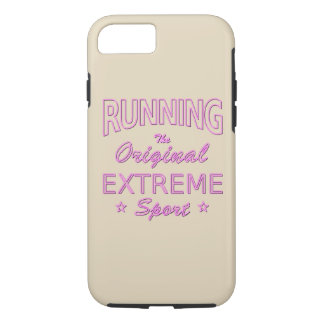 RUNNING, the original extreme sport (pink neon) iPhone 8/7 Case