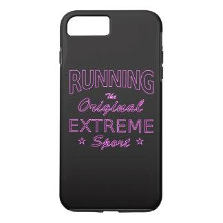 RUNNING, the original extreme sport (pink neon) iPhone 8 Plus/7 Plus Case
