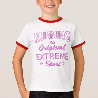 RUNNING, the original extreme sport (pink neon) T-Shirt