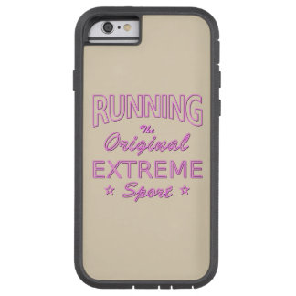 RUNNING, the original extreme sport (pink neon) Tough Xtreme iPhone 6 Case