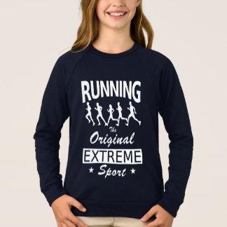 RUNNING, the original extreme sport (wht) Sweatshirt