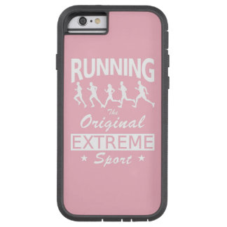 RUNNING, the original extreme sport (wht) Tough Xtreme iPhone 6 Case