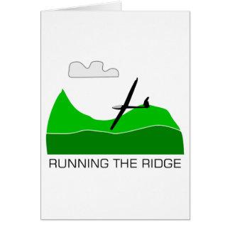 Running the Ridge Soaring Gliding Greeting Card