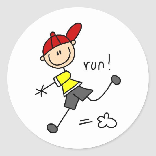 Running To Base Sticker