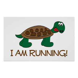Running Tortoise Print