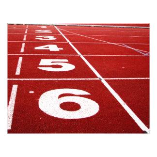 Running Track 21.5 Cm X 28 Cm Flyer