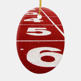 Running track christmas ornament