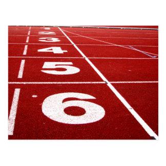 Running track postcard