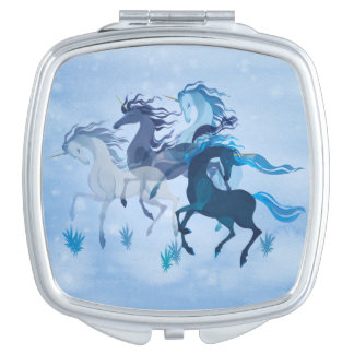 Running Unicorns compact mirror