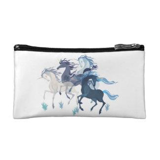 Running Unicorns small cosmetic bag