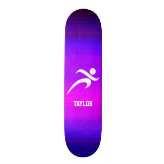 Running; Vibrant Violet Blue and Magenta 20 Cm Skateboard Deck