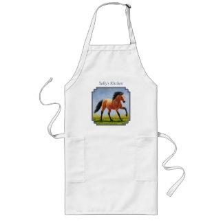 Running Wild Buckskin Horse Long Apron
