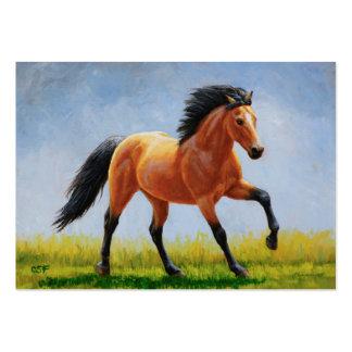 Running Wild Buckskin Horse Pack Of Chubby Business Cards