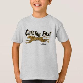 Running Wild Cheetah-Add a Name T-Shirt