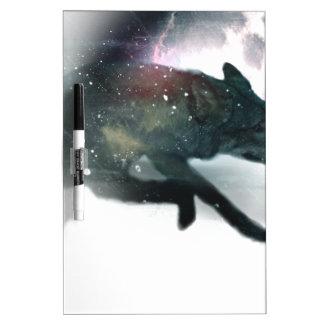 Running Wild Wolf Moon Sky Dry Erase Board