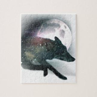 Running Wild Wolf Moon Sky Jigsaw Puzzle