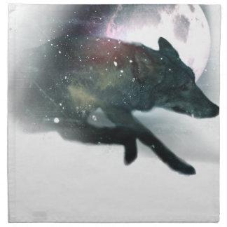 Running Wild Wolf Moon Sky Napkin